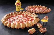 Hot Dog Pizza Crusts - The Latest Hybrid Pizza from Pizza Hut Features a Unique Frank-Filled Crust