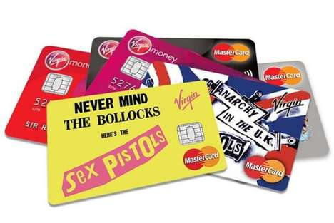 Punk Rock Credit Cards - These Punk Rock Cards are Decorated with Sex Pistols Album Covers