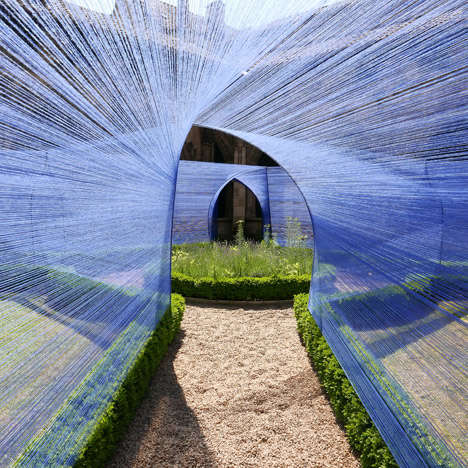 Whimsical String-Covered Walkways - Atelier YokYok Designed this Whismsical String-Enclosed Walkway