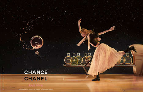 Whimsical Fragrance Branding - The Chanel Chance Eau Vive Campaign Brings a Fantasy to Life