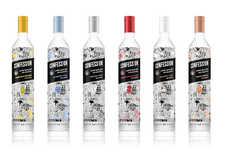 Handwritten Vodka Labels