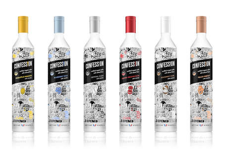 Handwritten Vodka Labels - This Organic Vodka Brand Uses Written Confessions on its Labels