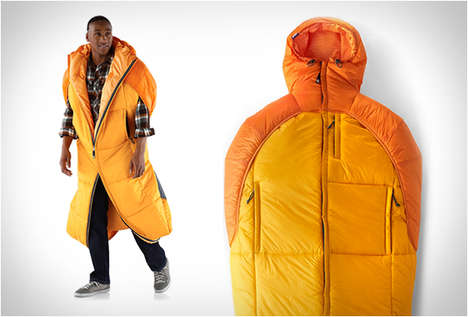 Wearable Sleeping Bags - The 'Crash Sack' Combines a Comfortable Jacket with a Mobile Sleeping Bag