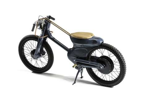 Motorcycle Bicycle Hybrids - This Retro Moped Combines an Electric Scooter and a Pedal Bike