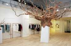 Nature-Inspired Pop-Up Fixtures - The British Designers Collective Pop-Up Shop Features a Large Tree