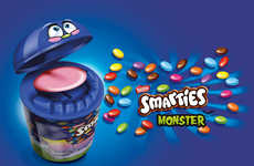Toy-Like Candy Packaging - Smarties Monster Turns Eating Chocolate into a Fun Game for Kids