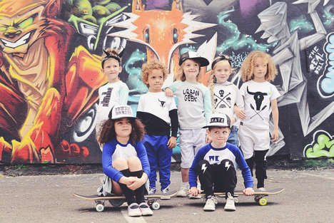 Urban Kid Catalogs - Cute Graffiti Kids Carries Style-Focused Streetwear for Kids
