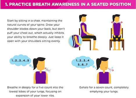 Stress-Relieving Movement Guides - This Infographic Explains How to Do Yoga to Reduce Stress