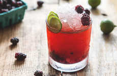 Tropical Berry Cocktails - Honestly YUM's Olallieberry Cocktail Recipe is Perfect for Summer