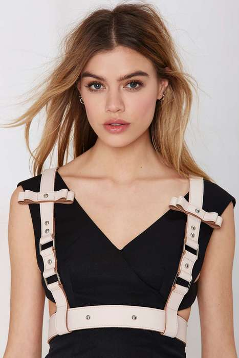Structured Leather Harnesses - Nasty Gal's Body Harness Accessory Makes Any Ensemble More Edgy
