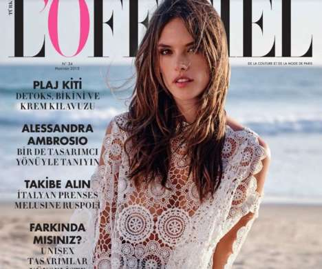 Effortless Beach Fashion - The Alessandra Ambrosio L'Officiel Turkey Cover Shoot is Subtly Sensual
