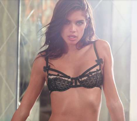 Smouldering Bedroom Photoshoots - The Victoria's Secret Lingerie Campaign Stars Sara Sampaio