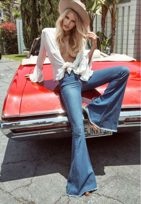 Authentic 70s Lookbooks - Alena Biohm is a Retro Vixen in the Latest Free People Catalog