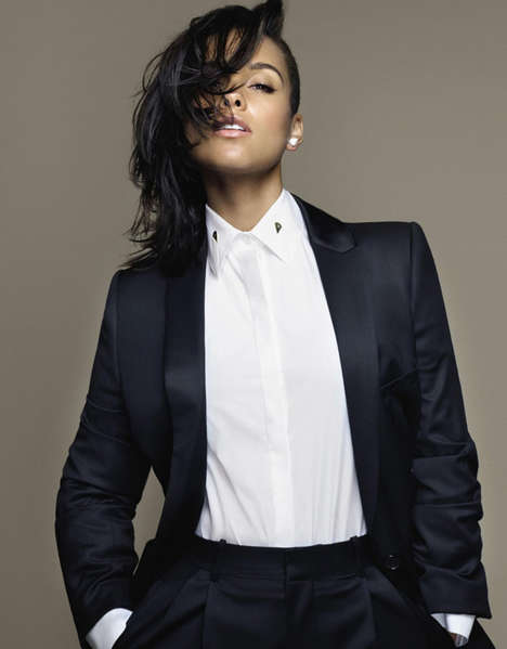 Elegant Songstress Editorials - This Alicia Keys Fashion Story Graces Grazia France's Latest Issue