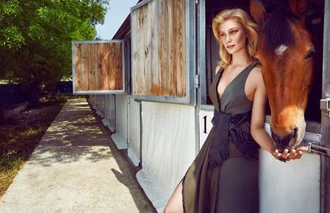 Fashionable Farm Photography - Elle Turkey's Manon B Feature Boasts Horses and Designer Clothes