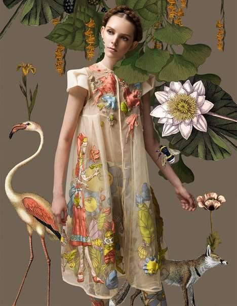 Floral Spring Fashion - Harper's Bazaar Indonesia's 'Le Printemps' Shoot is Whimsical