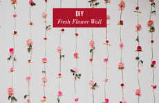 Ombre Floral Decor - This Fresh Floral Wall is Pretty for Weddings and Feminine DIY Photo Booths