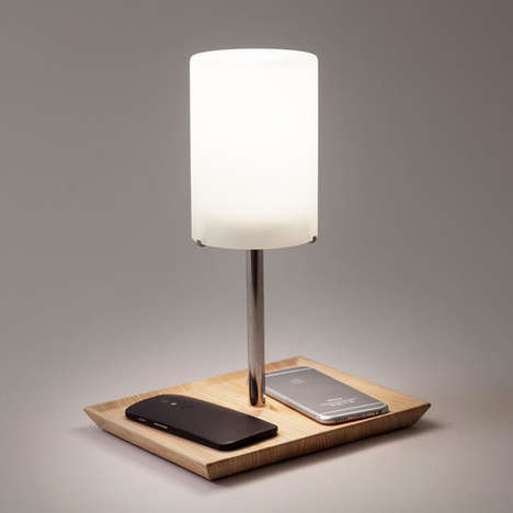 Gadget-Charging Lamps - Mayela Mujica's Lamp Only Turns on When in Use