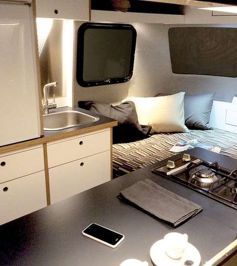 Monocoque Glamping Trailers - The Nest Caravan Has a Fully Accessorized Interior
