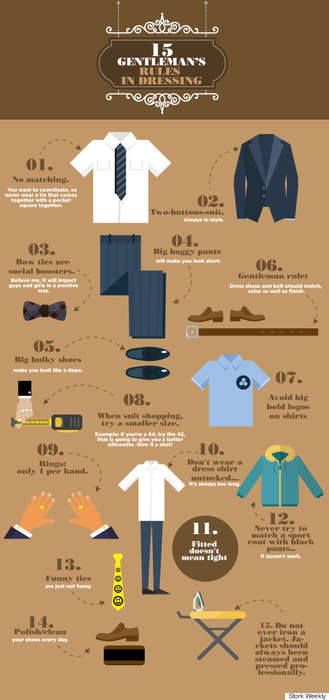 Modern Male Fashion Guides - This Infographic Reveals Fifteen Essential Male Fashion Tips