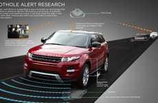 Pothole-Detecting Car Systems - Jaguar Land Rover's Pothole Alert Identifies Wretched Potholes