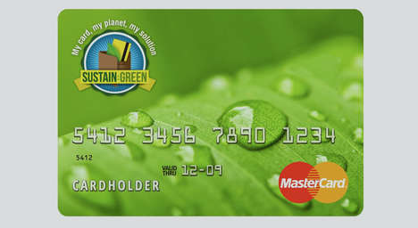 Eco-Friendly Credit Cards - The New 'Sustain:Green' Card Helps to Reduce a User's Carbon Footprint