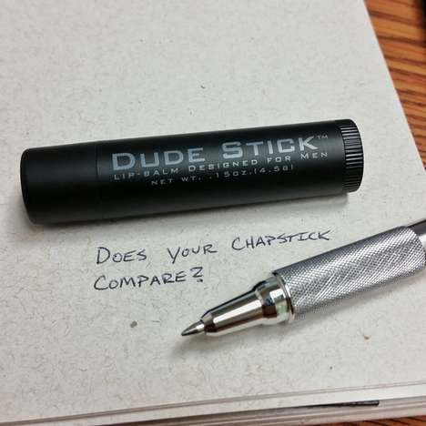 Masculine Lip Balms - Dude Stick by Spencer Sevy is Sleekly Packaged for Men