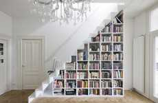 Staircase Bookshelf Storage