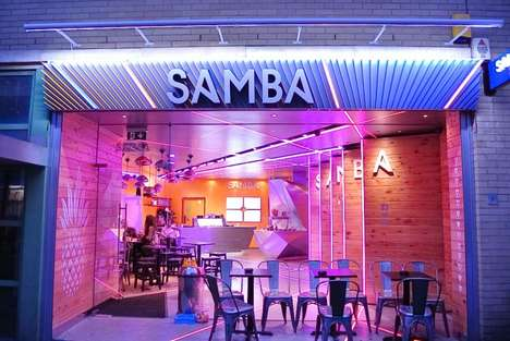 Futuristic Froyo Shops - Camden's Samba Swirl Location Features LED Mood Lighting