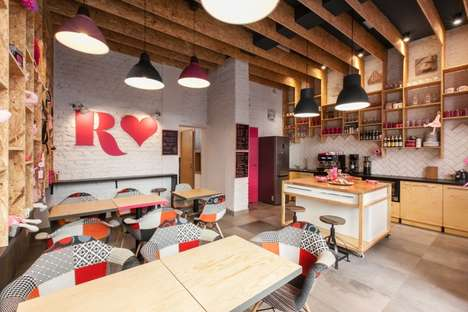 Continental Retail Cafes - The Rozove Cafe and Store is a Pink-Hued Paradise