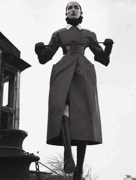 Pastoral Dominatrix Editorials - The Vogue Italia Fei Fei Sun Photoshoot is Commanding and Outdoorsy