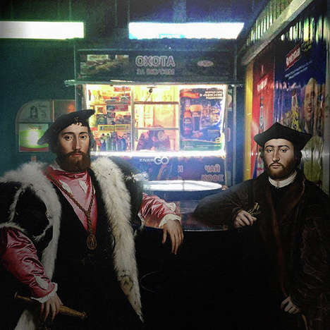Modernized Classic Art - Alexey Kondakov Used Photoshop to Place Classic Art Pieces in Urban Society