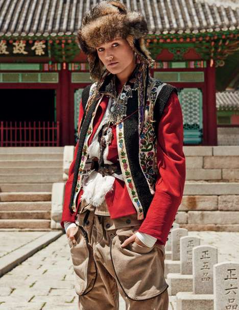 Authentically Asian Editorials - The Vogue Germany Giampaolo SguraEditorial is Eastern and Exotic