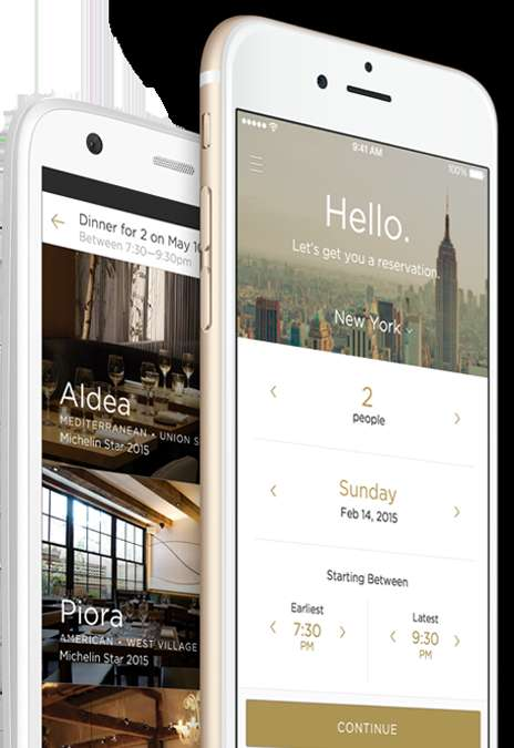 Dining Experience Apps - The Reserve App Handles Everything From Restaurant Reservations to Payment