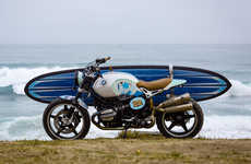Surfboard-Carrying Motorcycles - This BMW Motorcycle is Designed to Satisfy Summer Surfers