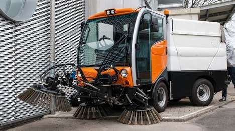 Hybrid Road Sweepers - This Vehicle Sweeps Roads and Also Helps Keep the Air Clean