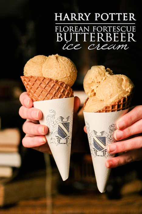 Magical Ice Creams - This Butterbeer Ice Cream Recipe is Inspired by the Harry Potter Books