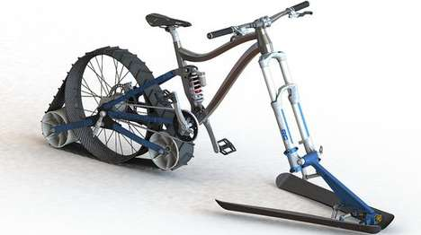Smooth-Riding Snow Bikes - This Bike Brings Together Different Elements of Winter Bikes
