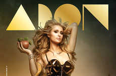 Biblical Socialite Editorials - Paris Hilton Channels Her Inner Eve for the Cover of ADON Magazine
