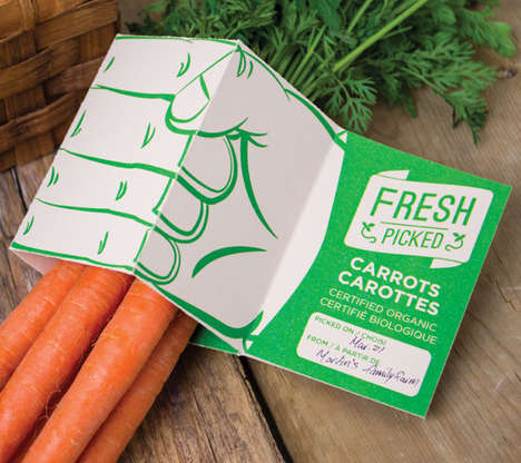 Fresh Picked Produce Labels - This Organic Packaging Design Emphasizes the Farm of Origin