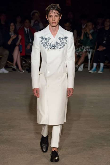 Nautical Avant-Garde Fashion - The Alexander McQueen Spring Menswear Line Channels Seaside Style