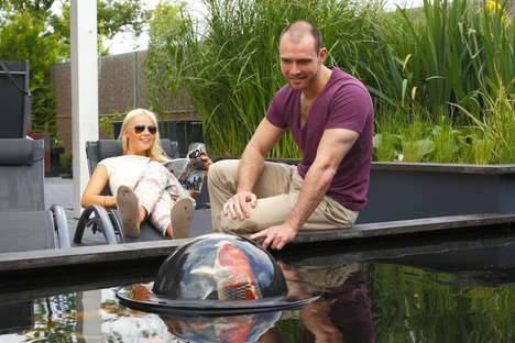 Floating Fish Domes - Velda Creates an 'Observatory' for Koi Fish and Onlookers Alike