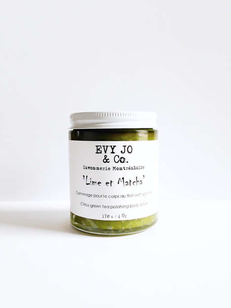 Superfood Body Scrubs - EvyJoAndCo's Lime and Matcha Body Exfoliant is Handmade