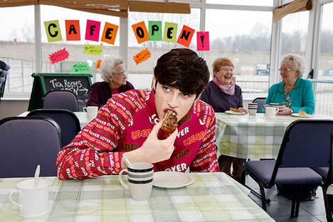 Kitsch British Lookbooks - The Latest House of Holland Catalog was Shot by Photographer Martin Parr