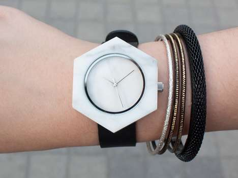 Minimalist Marble Timepieces - The Elegant Marble Watch From the Analog Watch Co. is Solid Stone