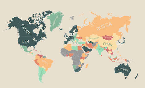 Life Quality World Maps - This Infographic From MoveHub Displays the Global Quality of Life
