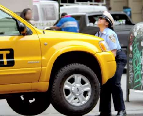 Car-Lifting Police Officers