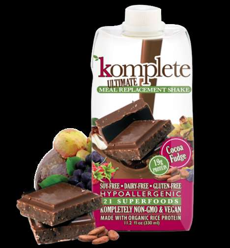 Superfood-Infused Vegan Shakes - 'Komplete' is a Healthy and Tasty Drinkable Meal Replacement