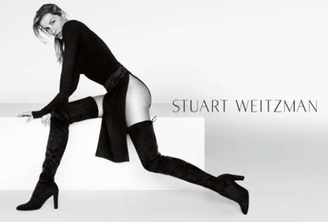 Leg-Flaunting Footwear Ads - Gisele Reprises Her Role as the Face of the Stuart Weitzman Campaign