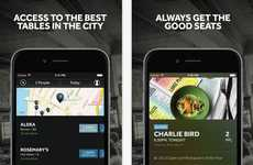 Last-Minute Reservation Apps - The Resy App Lets Users Pick the Best Seat in the House